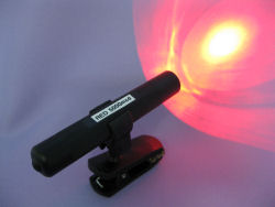 Super Bright, Clip-on, Push-Button Red LED Flashlight